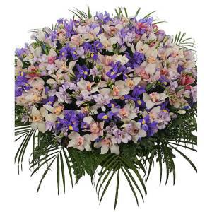 Сборная корзина орхидеи и ирисы R273